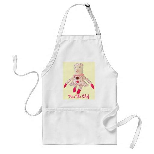 Kyssa förklädet för den kockRosie dockan Förkläde