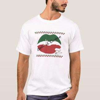 Kyssa italienska manar för kocken T-tröja T-shirts