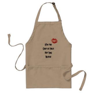 Kyssa kocken eller dina varmkorvbrännskador! förkläde