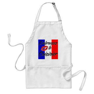 Kyssa kocken (fransk) förkläden