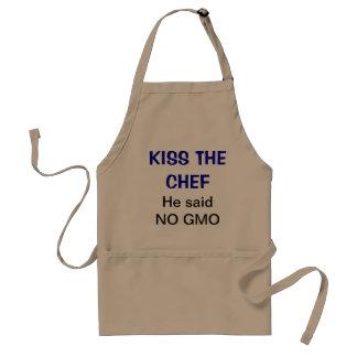 Kyssa kocken - han sade ingen GMO Förkläde