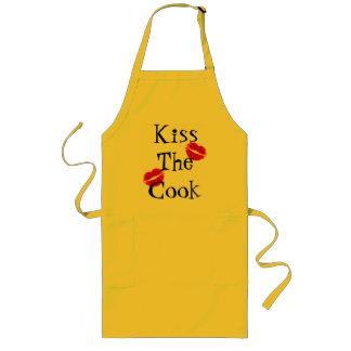Kyssa kockförklädet långt förkläde