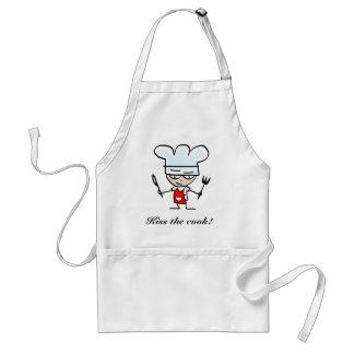 Kyssa kockförklädet med tecknaddesign förkläde