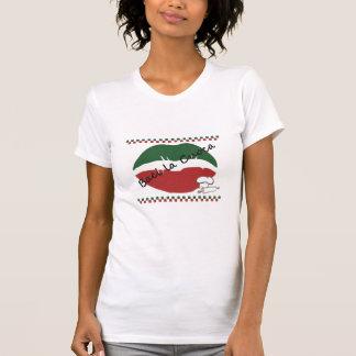 Kyssa kockkvinna T-tröja Tee Shirt