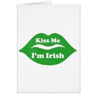 Kyssa mig dagen för St. Patricks för Hälsningskort