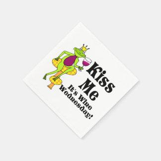Kyssa mig!  Det är vinonsdagen! VinPrince Papper Servetter