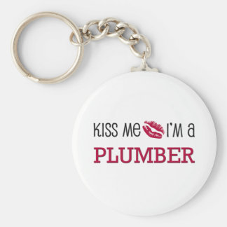 Kyssa mig I-förmiddagen en RÖRMOKARE Rund Nyckelring