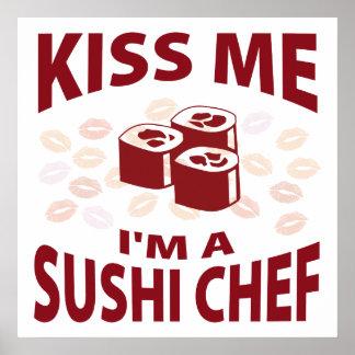 Kyssa mig I-förmiddagen en Sushikock Affisch
