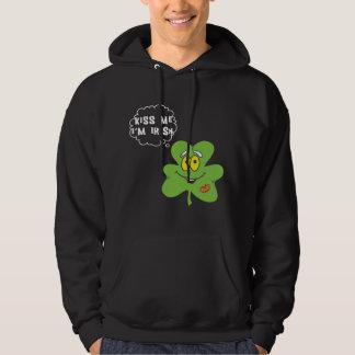 Kyssa mig I-förmiddagirländare Sweatshirt Med Luva