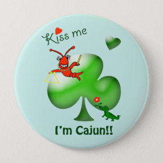 Kyssa mig kräftor för den I-förmiddagCajun St Stor Knapp Rund 10.2 Cm