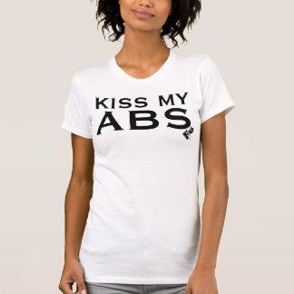 KYSSA MIN ABSkvinna den Racerback T-tröja T-shirt