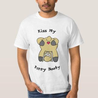 Kyssa min hårigbootyT-tröja Tee Shirt