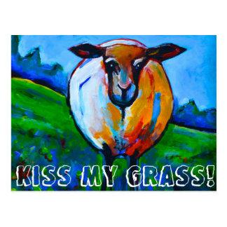 Kyssa mitt gräs! vykort