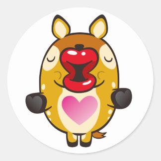 kyssande bambi runda klistermärken