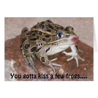 Kyssande grodakort hälsningskort