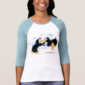 Kyssande pingvinT-tröja