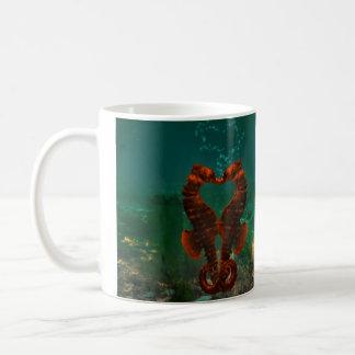 kyssande seahorses kaffemugg