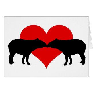 Kyssande Tapirs Hälsningskort
