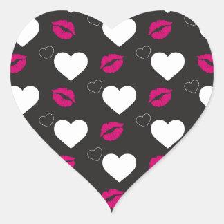 Kyssar för valentin dag hjärtformat klistermärke