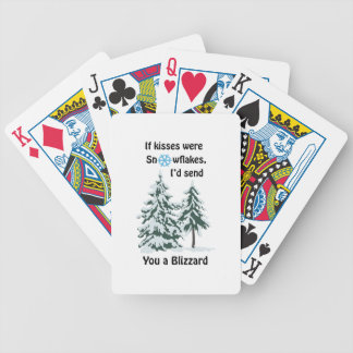 Kyssar var snöflingor spelkort