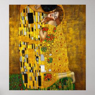 Kyssen av Gustav Klimt Poster