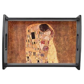 Kyssen av Gustav Klimt Serveringsbricka
