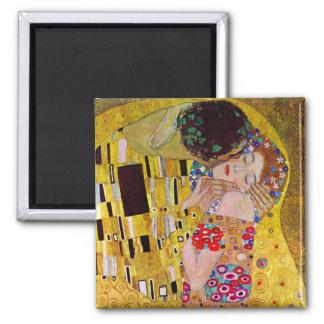 Kyssen av Gustav Klimt, vintageart nouveau Magneter För Kylskåp