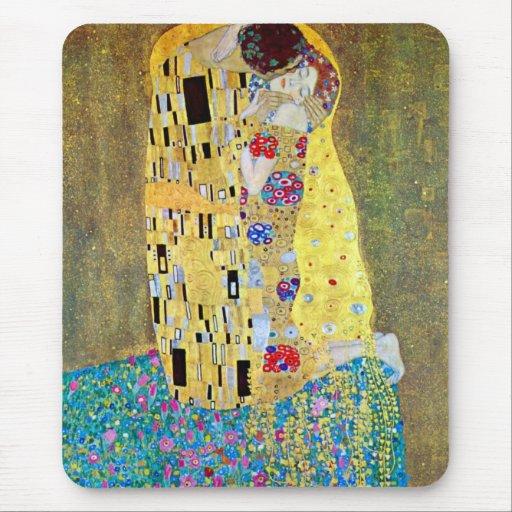 Kyssen (Der Kuss) vid Gustav Klimt, art nouveau Musmattor