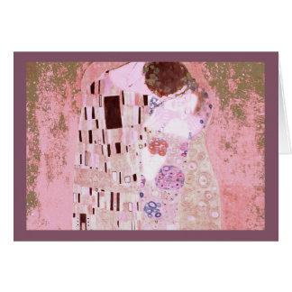 Kyssen i Pinks Hälsningskort