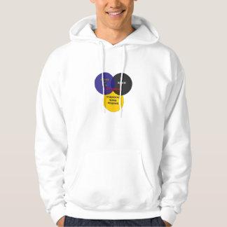 Kyssen klassificerar den stora logotypen för det hoodie