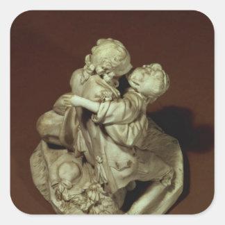 Kyssen, Sevres grupp, efter Boucher, 1765 Fyrkantigt Klistermärke