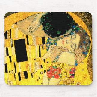 Kyssen vid den Gustav Klimt art nouveau Mus Mattor