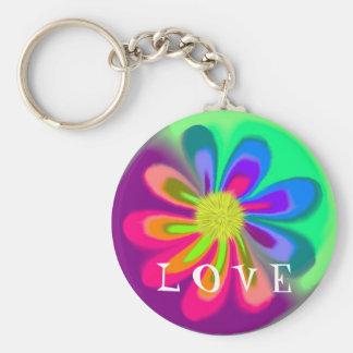 L blomma Keychain för NOLLA V E Nyckel Ring