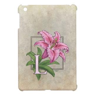 L för liljablommaMonogram iPad Mini Skydd