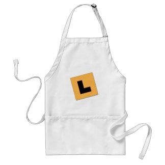 L tallrikar (svart/gult) förkläde