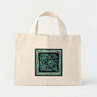 """L tote bags för Monogram """"för Masselle blått"""""""