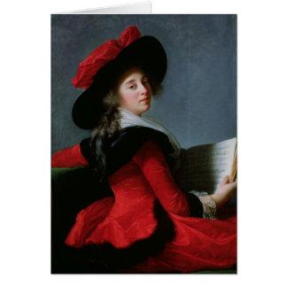 La Baronne de Crussol, 1785 Hälsningskort