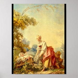 La Bergere', Jean Honore_Groups och figurer Poster