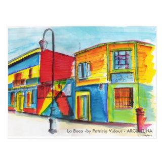 La Boca - vid Patricia Vidour - ARGENTINA Vykort