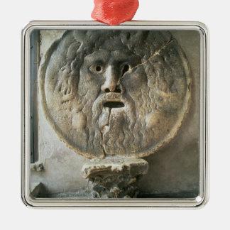 La Bocca di Verita (munnen av sanning) (fotoet) Julgransprydnad Metall