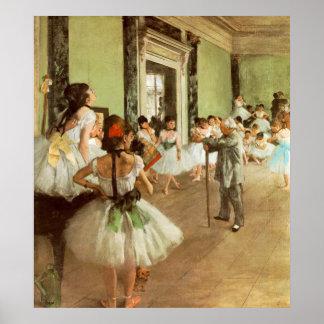 La Classe de Danse av Edgar Degas Poster
