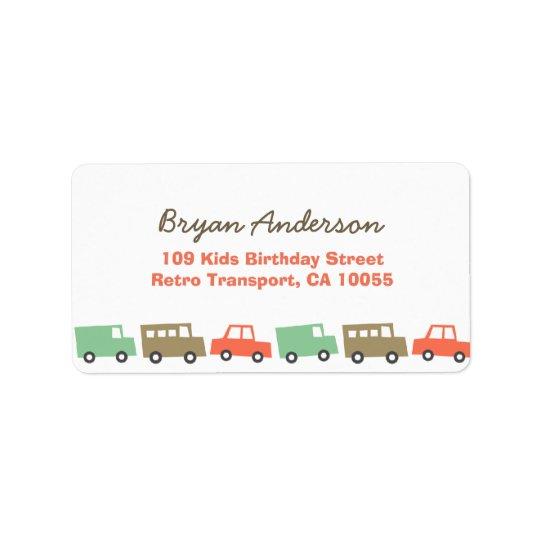 La för adress för födelsedag för transport för adressetikett