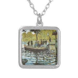 La Grenouillere - Claude Monet Silverpläterat Halsband