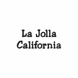 La Jolla Kalifornien broderad Poloskjorta!!! Broderade Polo Tröjor