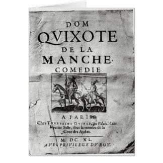 La Manche Comedie för Dom Quixote de Hälsningskort