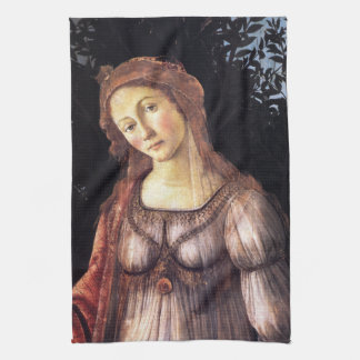 La Primavera specificerar in vid Sandro Botticelli Kökshandduk