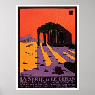 La Syrie Et Le Liban/Palmyre frankrikevintage Poster