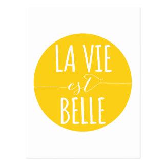 la tävlar est-bellen, liv är det härliga franska vykort