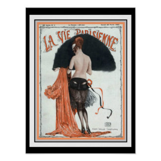 La tävlar Parisienne vintage täcker affisch 12 x