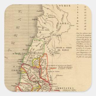 La Terre Sainte sous Salomon Fyrkantigt Klistermärke